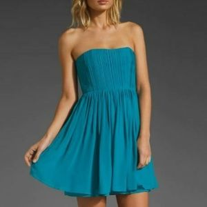 Alice + Olivia Dress 2 Mckell Silk Pleated Empire